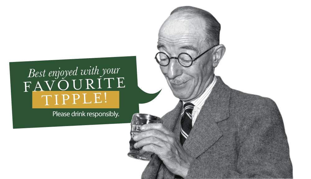 Best enjoyed with your favourite tipple! Please drink responsibly.