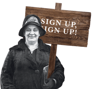 Sign up, sign up!