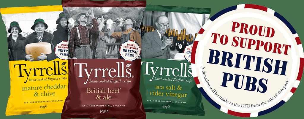 Tyrrells - Proud to support British pubs